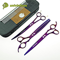 "8"" univinlions dog groomer pet scissors dog grooming scissors set professional horse clippers trimming animal hair scissors kit"