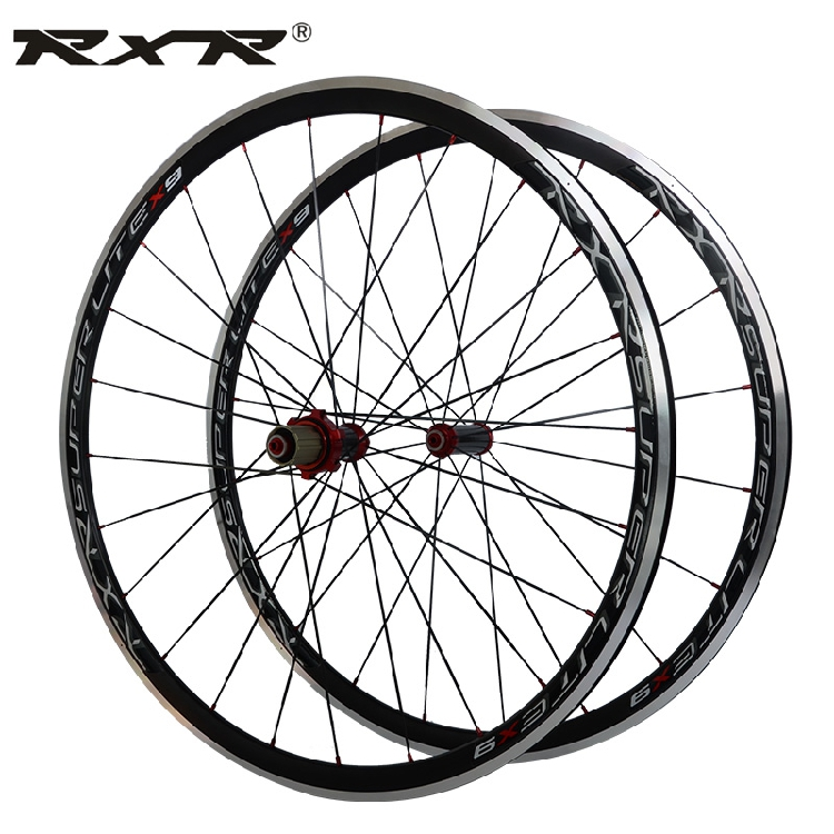 RXR X9 NEW 2018 High Quality HOT sale 700C Alloy Carbon hubs Wheels Road Bicycle Wheel Aluminium Road Wheelset Bicycle Wheels 1pcs magnesium alloy single speed fixed gear bike wheels 700c road racing venues inch wheel bicycle accessories