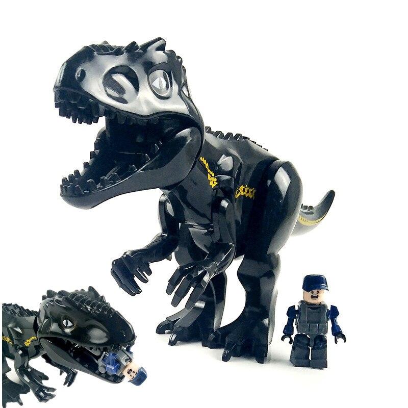 Compatível com Legoings Indoraptor Indominus Mundo Jurassic Park Tiranossauro Rex Dinossauro Figuras Blocos de Construção Tijolos Brinquedos