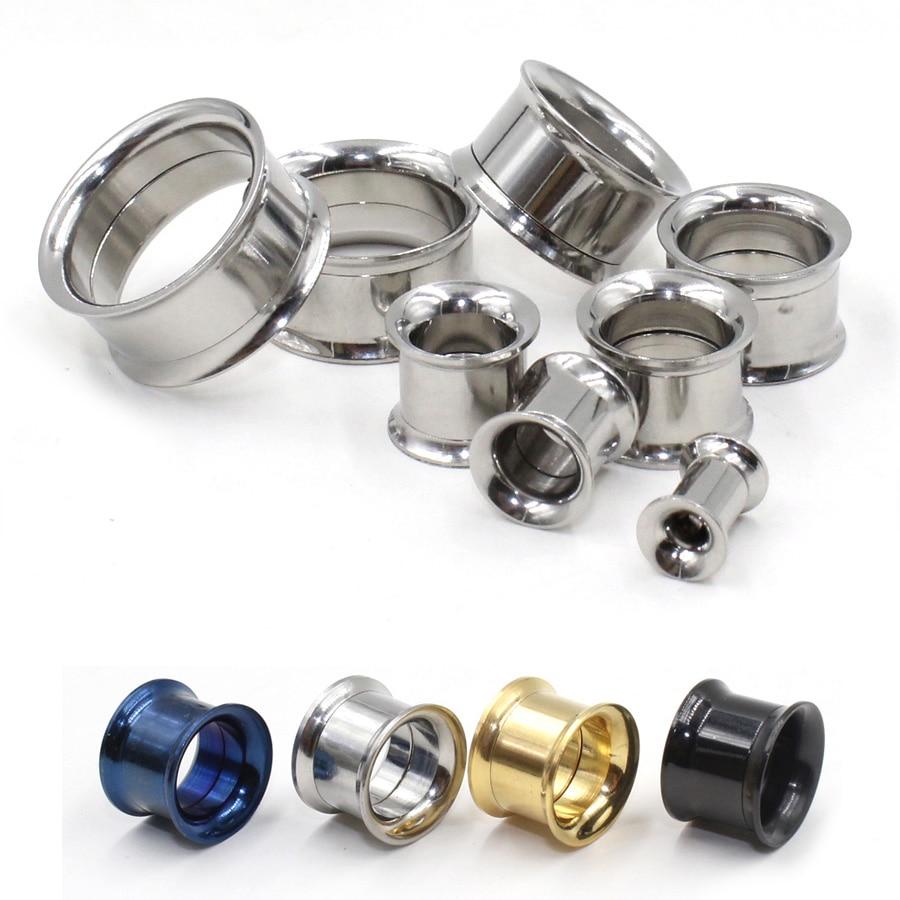 2ks móda z nerezové oceli ušní maso tunely plug náušnice duté expandér náušnice měřidla sada piercing šperky 5MM-20MM vybrat