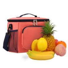 Izolowana torba na lunch Box piknik dużego ciężaru z regulowany pasek na ramię szczelne i modne torba termoizolacyjna dla dorosłych i dzieci