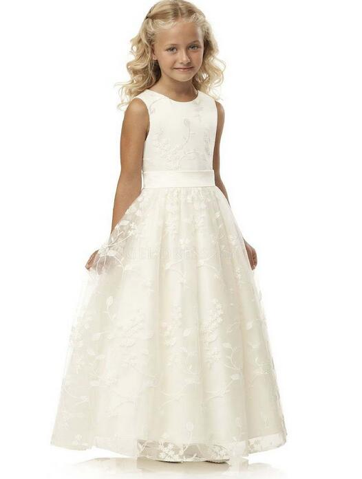 Girl's Long Formal Dress 2017 Flower Girls Princess Dresses Kids Lace Embroidered Party Ball Gown Children's Wedding Dress 2-13Y new flower girls party dress embroidered formal bridesmaid wedding girl christmas princess ball gown kids vestido
