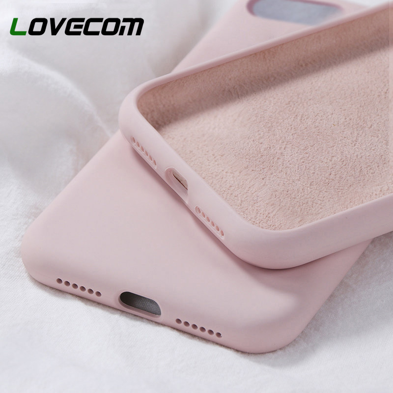 LOVECOM Silicone Solid Candy Color Case For IPhone 11 Pro Max XS Max XR X For IPhone 6 6S 7 8 Plus Soft TPU Phone Back Cover