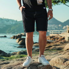 GXXH Mens Denim Shorts 2018 New Summer Casual Knee Length Short Bermuda Masculina Multi-pocke Jeans Shorts for Men Plus Size 46(China)