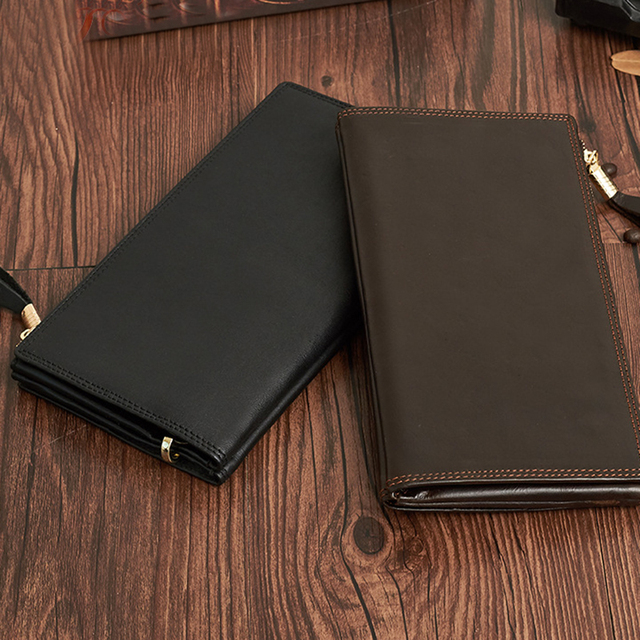 509851a10366 Ultra Thin Cow Genuine Leather Male Wallet Men Casual Trend Hand Bag Long  Section Multi-