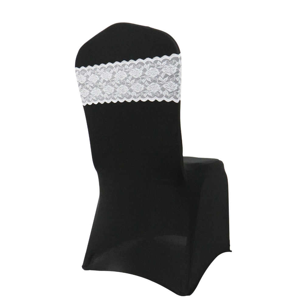 Бесплатная доставка, ленты для свадебных стульев, белые кружевные ленты для стульев, детские украшения для душа, дня рождения, свадьбы, вечеринки, украшение домашний текстиль, 25 шт.