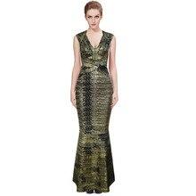 Frauen Lange Verbandkleid, Figurbetontes Kleid Bodenlangen Neueste Cocktail Party Kleid 2164 XS S M L