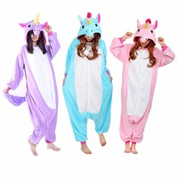 Unicorn Onesie Animals Pajamas Adults Kids Men Women Cartoon Sleepwear Party Family Overalls Winter Warm Home