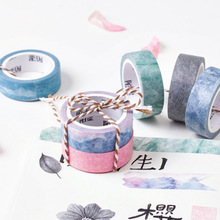 24 pcs/Lot Nature color masking tape washi paper tapes 15mm*7m Decorative sticker for frame diary Stationery School supply CJ635