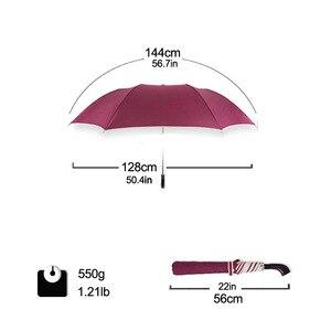 Image 4 - 128cm גדול מטרייה אוטומטית 128cm גברים גשם אישה Windproof גדול זכר נשים שמש 2 Floding מטרייה גדולה נסיעות חיצוני