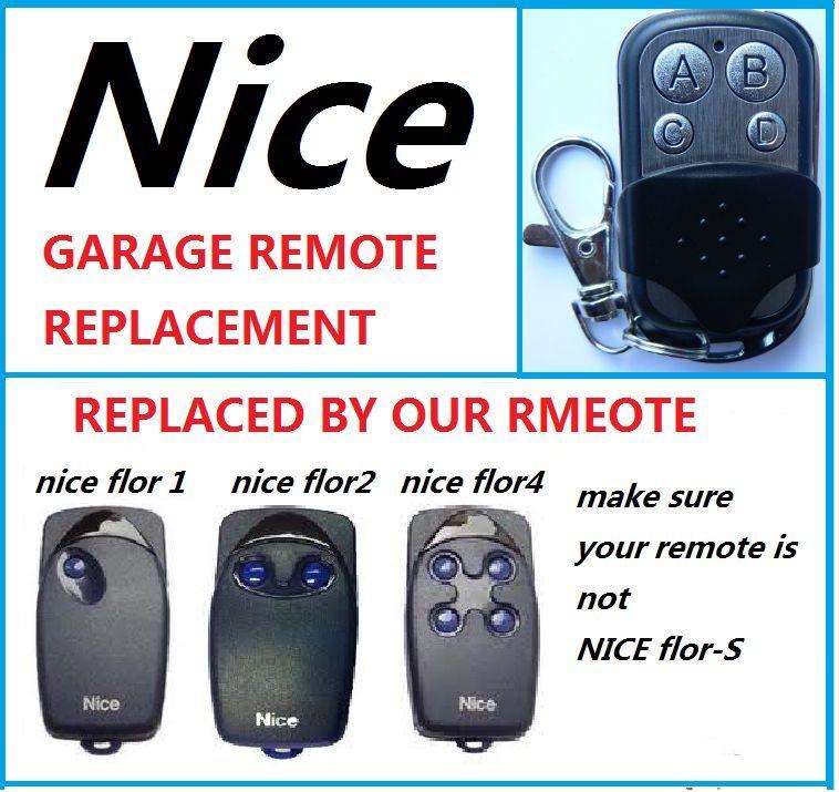 Nice FLO1 FLO2 FLO4 Garage Door Remote Control duplicator Door Opener (only  for fixed code 433.92mhz)Nice FLO1 FLO2 FLO4 Garage Door Remote Control duplicator Door Opener (only  for fixed code 433.92mhz)