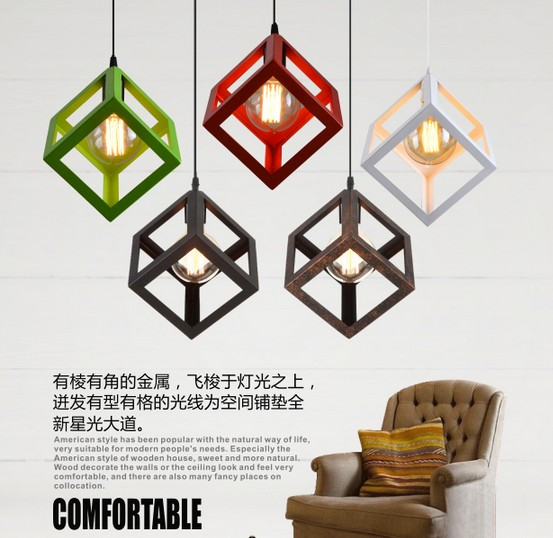 Antique Loft Lamp Edison Bulb Vintage Pendant Light Fixtures Creative Industrial Droplight For Dining Room Indoor Lighting