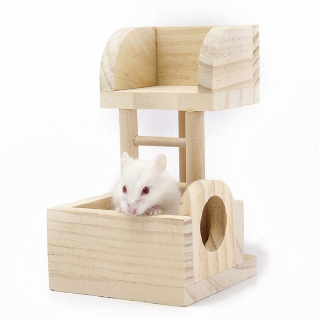 High Quality Natural Wooden Hamster Toy Mouse Gerbil Rat Chew Toys ...