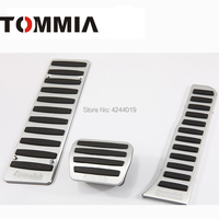 TOMMIA For Audi Q3 2013 2018 Car Pedal Footrest Brake And Gas Pedal Pad Alumimum Alloy 3Pcs