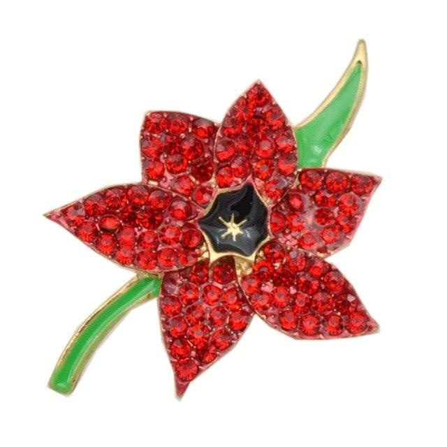 18 inch red rhinestone crystal diamante poppy flower brooch 18 inch red rhinestone crystal diamante poppy flower brooch remembrance day badge mightylinksfo