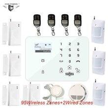 GSM Alarm Android Russische Tastatur System Outdoor Wireless Motion Sensor Für Ältere DM-100 Tür Sensor 433 Mhz DHL Freies Schiff k9B