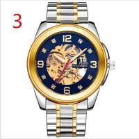Мужские новые модные механические часы из нержавеющей стали лаконичные повседневные Роскошные деловые наручные часы