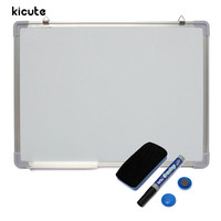 Kicute 600x450MM Magnetic Whiteboard Writing Board Double Side With Pen Erase Magnets Buttons For Office School