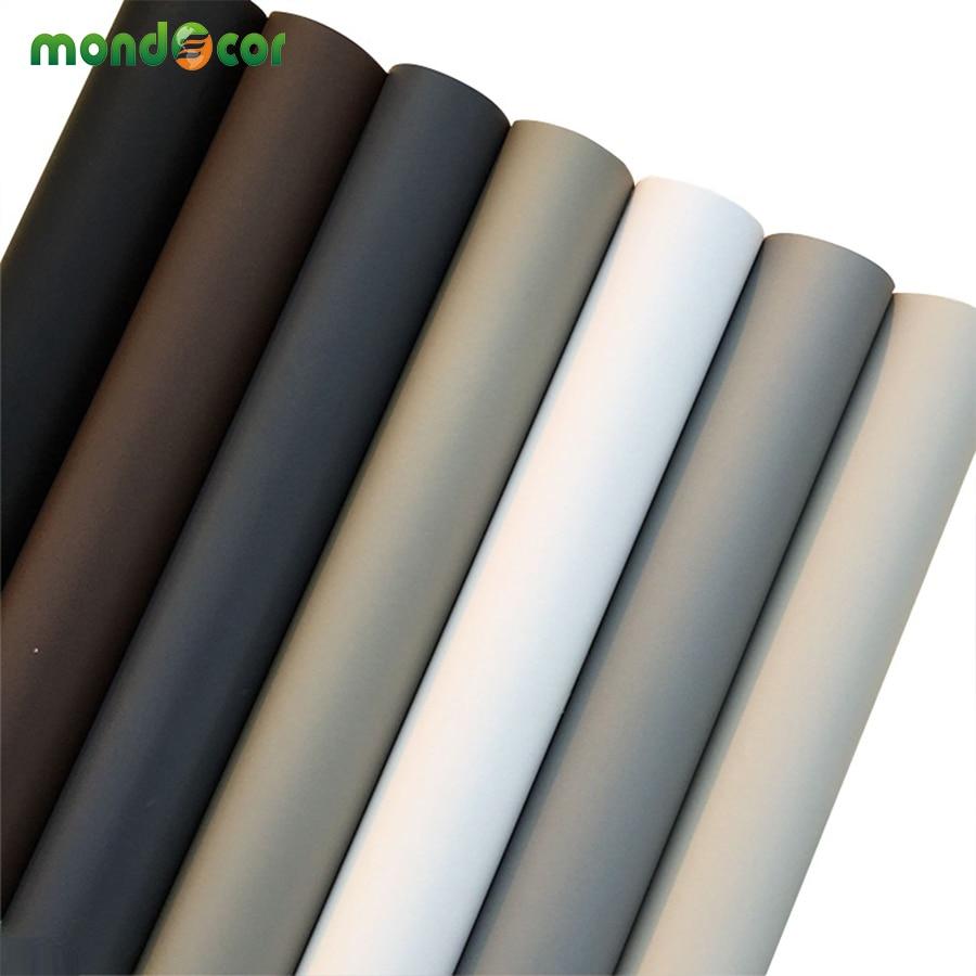 Solid Matt Kitchen Cupboard Cabinet Self Adhesive Wallpaper Roll Vinyl Furniture Wall Stickers PVC DIY Decorative Contact Paper
