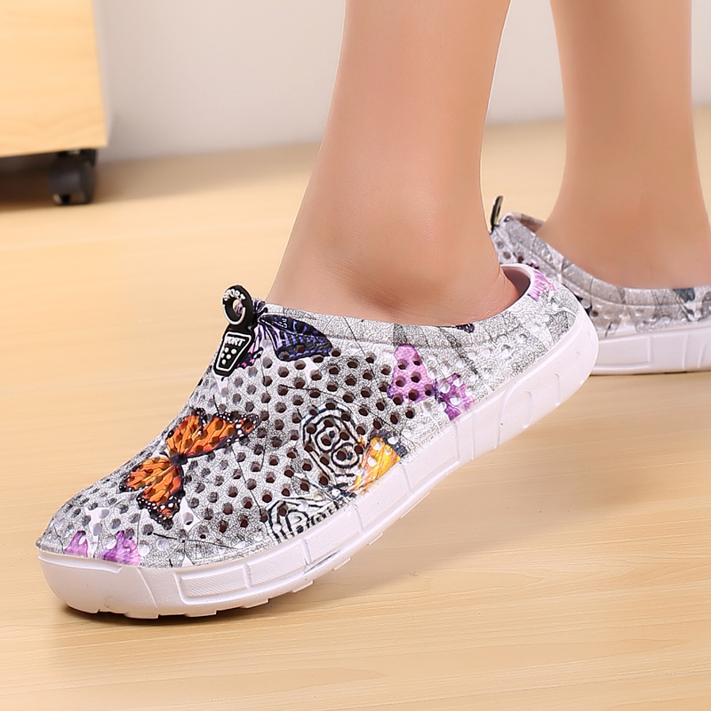 2019 womens casual Clogs Breathable beach sandals valentine slippers summer slip on women flip flops shoes home shoes for women 1