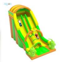 Прыжки Надувные игрушки надувные двойной слайд SLIP N горкой для детей и взрослых 9.6*4.8*6.6 м
