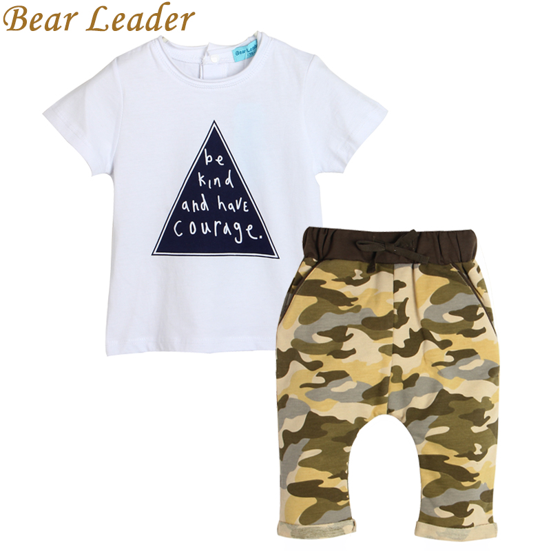 Bear Leader 2017 kids boys summer style infant clothes