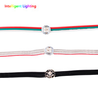2X 50pcs String WS2812B 5050 RGB Addressable LED Module Black Crystal Wire Red Green White Wire