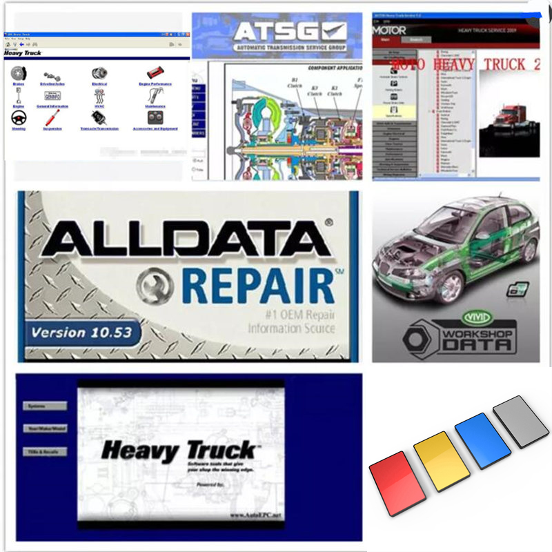 Alldata 2018 auto Repair Software all data v10.53+Mitchell on demand +moto heavy truck+atsg 46 in1 1TB HDD for all cars & trucks auto alldata software all data 1tb harddisk alldata and mitchell software 16 softwares with vivid workshop elsawin heavy truck