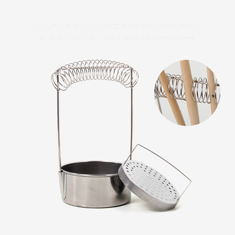 Oil Painting Brush Washing Bucket Wash Pen Barrel Cup Wash Brush Pot Stainless Steel Oil Paint Brush Washer Art Supplies simple bathroom ceramic wash four piece suit cosmetics supply brush cup set gift lo861050