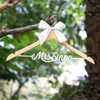 Wedding Hanger Personalized Rustic Wedding Dress Hanger Custom Wood Bridal Last Name Hanger Bridal Shower Gift