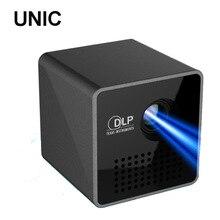 Оригинал UNIC P1 30 люмен Портативный карманный Проектор Цифровой ЖК-ДИСПЛЕЙ FULL HD Домашнего Кинотеатра Cinema Pico mini Proyector видео проектор