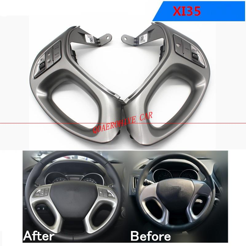 QDAEROHIVE Car Cruise Control Switch Button Audio Volume Switch For Hyundai Ix35 Without Bluetooth Button