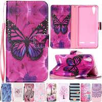 Luxury Cartoon Butterfly Cat Leather Flip Fundas Case For Coque Lenovo A6010 Plus & A6000 Lemon K3 K30-T K 3 A 6000 6010 Cover