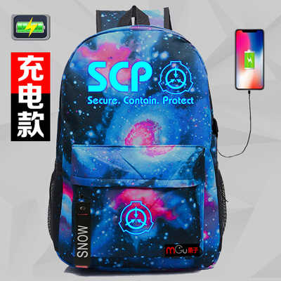 2018 women men Anime Cyuunibyou SCP Foundation unisex students backpack  cosplay travel bags cf66221ce7fa4