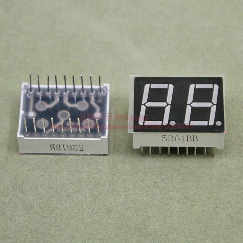 100pcs 18 Pins 5621BB 5621AB 0.56 Inch 2 Digits Bits 7 Segment Blue LED Display Common Anode Cathode Digital Display