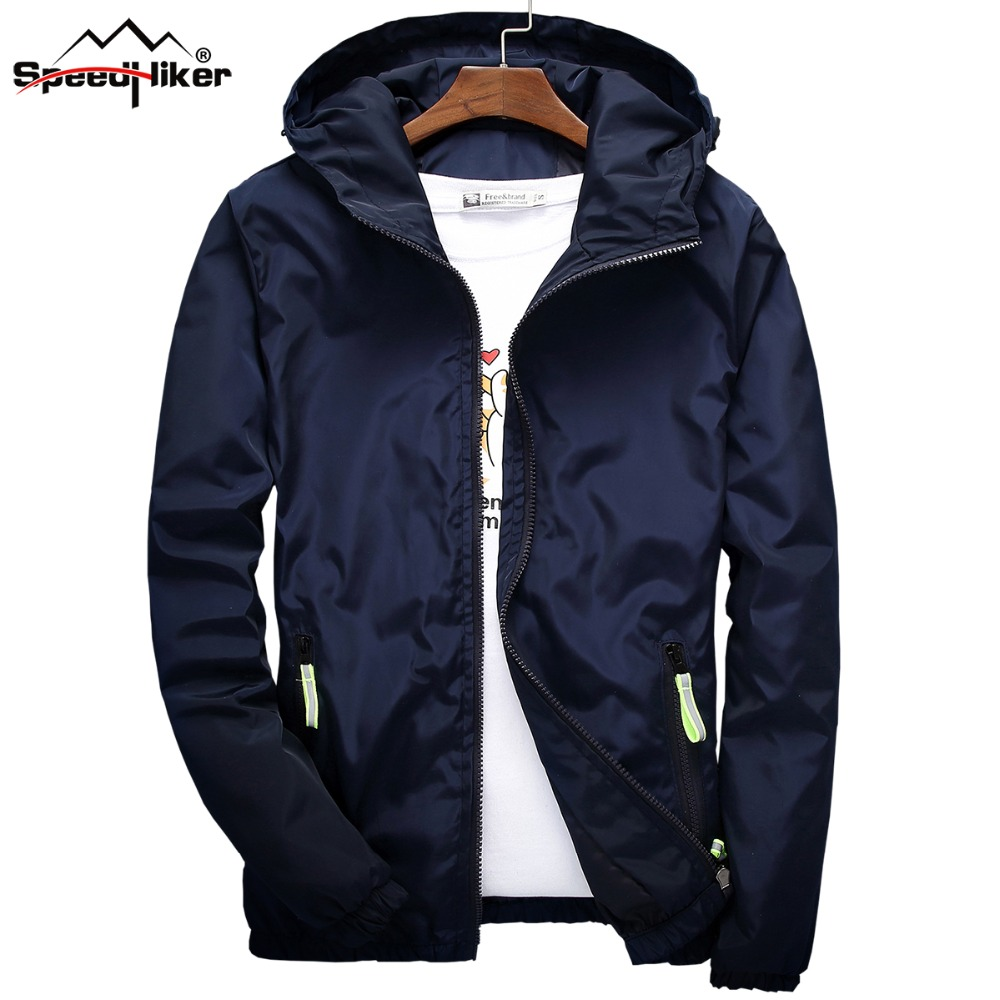 3e9729cc464 Size 6XL 5XL 7XL 2018 Spring Autumn Young Men Windbreaker Hooded Jacket  Slim Thin Clothing Top Quality Waterproof Plus Size K316