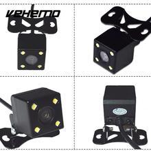 Universal CCD Coche Cámara de Marcha Atrás de Copia de seguridad de Copia de seguridad 4 LED visión nocturna de Visión Trasera Cámara HD A Prueba de agua de 170 Grados de Estacionamiento asistencia