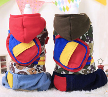 1pcs dogs cats fashion jumpsuits apparel doggy autumn winter overcoat clothes puppy tracksuits clothing pet dog hoodies 1pcs