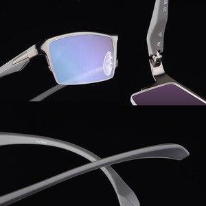 Image 5 - Оправа для очков из чистого титана, мужская оправа для очков, оправа для очков, большие простые дизайнерские оправы