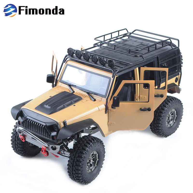 1:10 RC Auto Carrosserie Jeep Wrangler Rubicon Voor 1/10 RC Crawler Auto Axiale SCX10 270mm Wielbasis Motorkap intake Grille deel