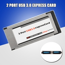 купить 2017 Dual 2 Port USB 3.0 Express Card 34mm/54mm Slot Express Card PCMCIA Converter Hidden Adapter For Laptop Notebook New дешево