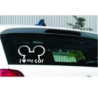 car sticker motorcycle Funny Car Sticker Cute Mickey Minnie Mouse Peeping Cover Scratches Cartoon Rearview Mirror Decal For Motorcycle Vw Bmw Ford Kia (5)