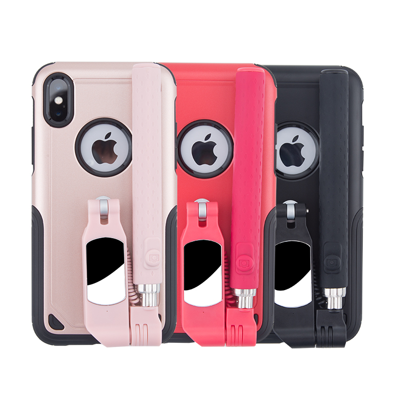 best service 92d24 0cc84 US $17.9 |Tashells Bluetooth Selfie Stick Case For iPhone XS selfie stick  for iphoneXS Max case 8plus case luxury iphone XR cover ip7 6sp-in Fitted  ...
