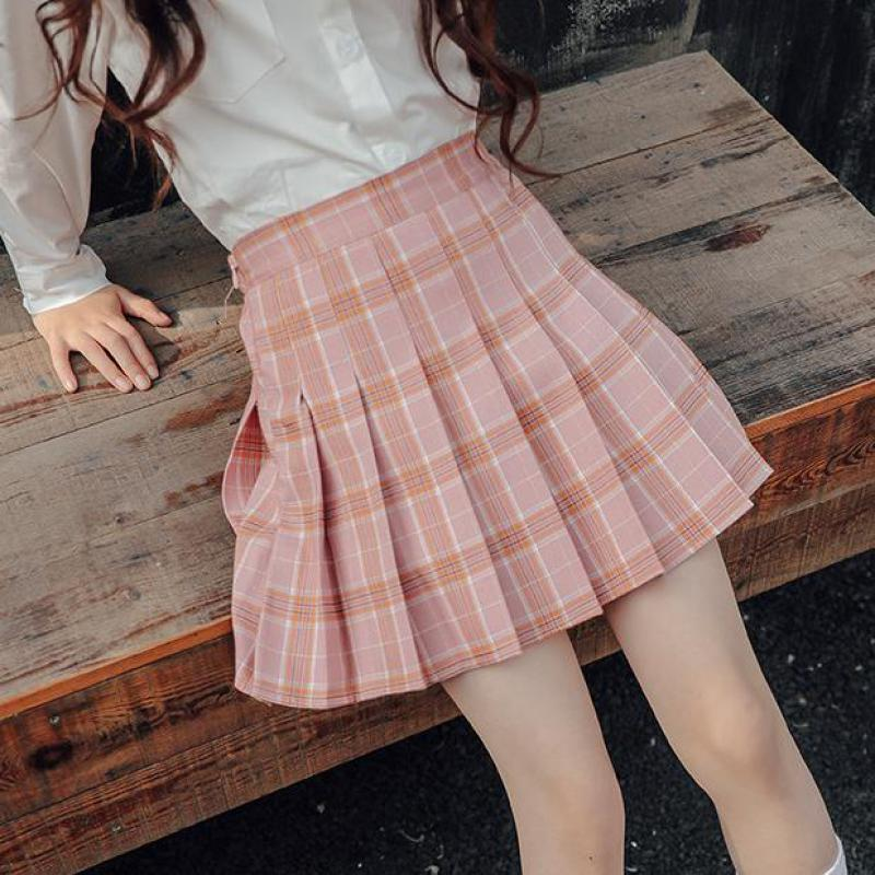 7541f56a7bb6b 2019 Mini Skirt Spring Summer Clothes For 6 7 8 9 10 11 12 13 14 15 16  Years Big Girls Plaid Skirts Teenagers Jupe Fille Faldas