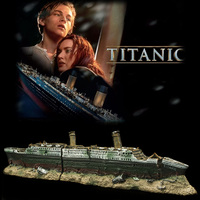 Titanic Wreck Ship Boat Aquarium Decoration Resin Artificial Fish Tank Sunk Boat Cruise Ship Ornament Hiding Cave For Fish