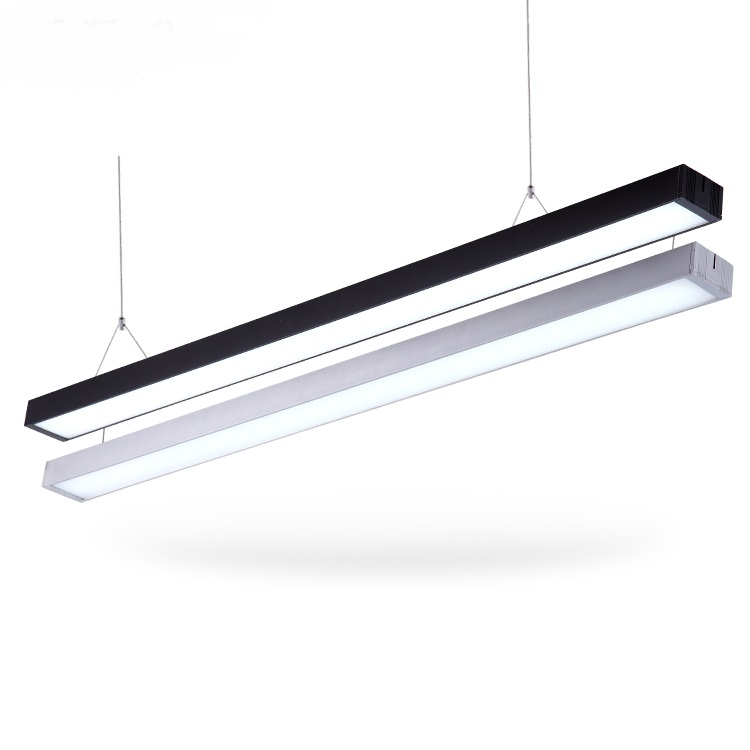 Modern office lighting Office modern pendant light LED office lighting office building project studio study pendant lamps 4cm aluminum office led strip chandeliers conference room study office office building commercial lighting fixture led lamps