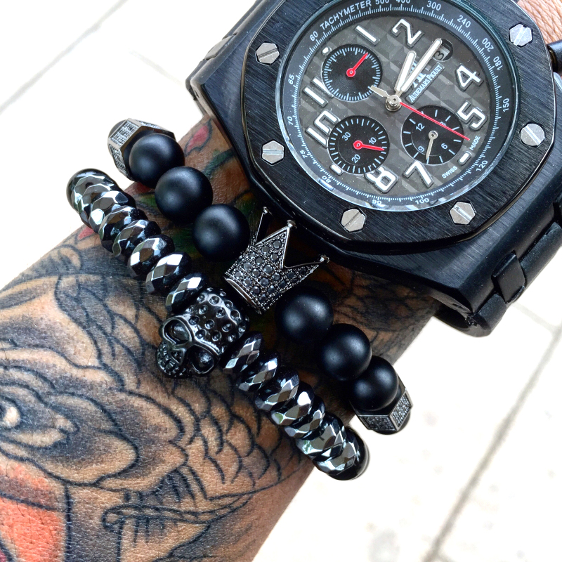 Mcllroy Trendy Imperial Crown & Stoppers Bracelets s