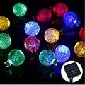 5 M 20 LEDs Con Energía Solar de Cristal Globo de la Bola de Luces de Cadena de Hadas Luces de Tira Llevada Al Aire Libre Para Jardín Fiesta de Navidad