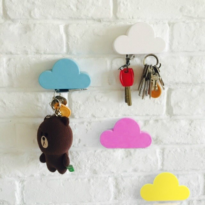 Cloud Shape Magnet Hooks Creative Wall Hanging Key Decorative Hook Exquisite Chain Fridge Sticker Suction Racks