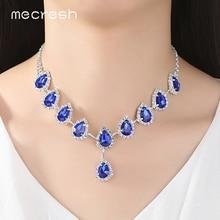 Blue Crystal Teardrop Wedding / Bridal Jewelry Sets